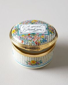 """""""A Special Thank You"""" Box by Halcyon Days Enamels at Horchow."""