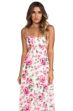 Nookie Valentine Cut Out Maxi Dress in White from REVOLVEclothing