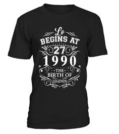 Made In 1990 27th Birthday 27 Years Old Gift T-Shirt  Funny Birthday T-shirt, Best Birthday T-shirt