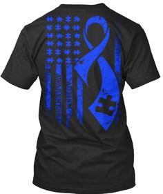 Autism Awareness Black T-Shirt Back