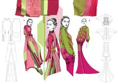 International Residency Scholarship Award - Awarded and Sponsored by the British Council Fashion Illustration Portfolio, Fashion Portfolio Layout, Fashion Design Sketchbook, Fashion Sketches, Portfolio Design, Portfolio Ideas, Portfolio Book, Dress Sketches, Fashion Drawings