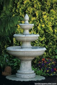 Picasso Three Tier Outdoor Garden Fountain LO3627