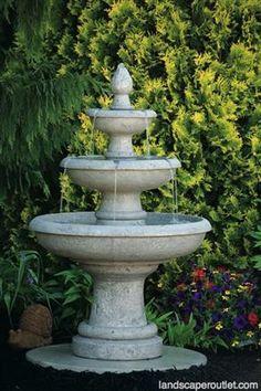 Picasso Three Tier Outdoor Garden Fountain LO3627