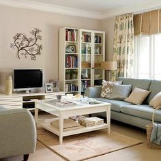living room design home decoration furniture design 5 ways to decorate your living room i like the coffee table - lots of storage Cream Living Rooms, Home Living Room, Living Room Designs, Living Room Decor, Living Area, Home Interior, Interior Design, Interior Colors, Living Room Inspiration