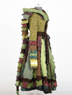 Forest Elf Coat - A Woodland Fairy Inspired Dream Coat - Reserved for Heather. $490.00, via Etsy.