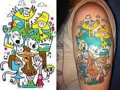 Tattoo designs by Jon Burgerman