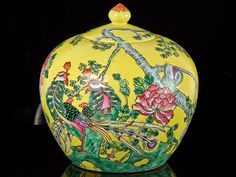 Chinese Dao Guang Painted Urn Jar c1830 )