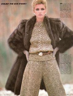 Vogue September 1981  Sable Fur Coat.