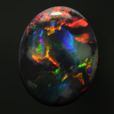 Black Opal from Lightning Ridge, NSW, Australia