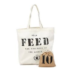 FEED 10 Bag With Burlap Pouch, $21, now featured on Fab.