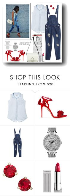 """""""Style in the city."""" by susans-sg ❤ liked on Polyvore featuring Mossimo Supply Co., Aquazzura, Caravelle by Bulova, Kate Spade, Lipstick Queen and 3.1 Phillip Lim"""