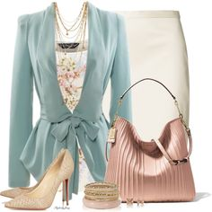 Spring into the Office, created by stylesbyjoey on Polyvore