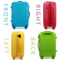 キャリーケース Mサイズ 1年保証付 スーツケース。キャリーケース 中型 スーツケース 超軽量  キャリーバッグ 旅行用鞄 アウターフラット  新作 小回り 旅行用かばん カラバリ豊富 4日 5日 6日 7日 M サイズ W-5082-60