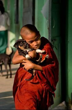 dharmarainbow: Be kind to all creatures; dharmarainbow: Be kind to all creatures; This is the true religion. The Buddha Buddhist Monk, Buddhist Art, Buddhist Temple, Poor Children, Precious Children, Funny Animals, Cute Animals, Human Poses, Training Your Puppy