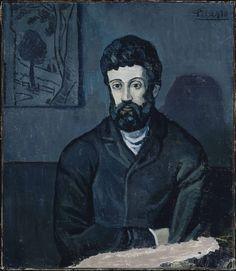 Pablo Picasso, Portrait d'homme, 1902-1903. Oil on canvas, 93 x 78 cm. Musée Picasso, Paris, France