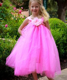 Take a look at this Hot Pink Ella Princess Dress - Infant, Toddler & Girls on zulily today! Toddler Girl Dresses, Little Girl Dresses, Toddler Girls, Flower Girl Dresses, Tulle Dress, Dress Up, My Little Kids, Hot Pink Weddings, Baby Couture