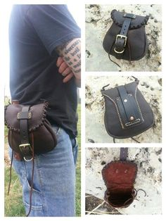 Leather belt pouch - The messenger Rev 2. $170