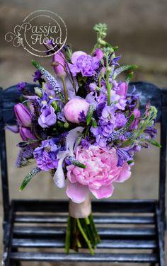 Bukiet ślubny z lawendą frnacuską « Pracownia florystyczna Passja-Flora