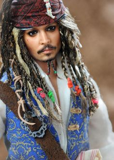 Johnny Depp doll as Captain Jack Sparrow / Always did think JD was a DOLL !!