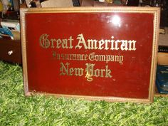 Vintage Advertising Reverse Painted Glass Gold by RelicsAntiques, $175.95   etsy