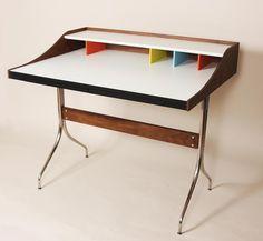 George Nelson Swag Leg Style Desk Walnut NIB