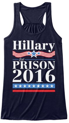 Hillary For Prison 2016 Midnight T-Shirt Front