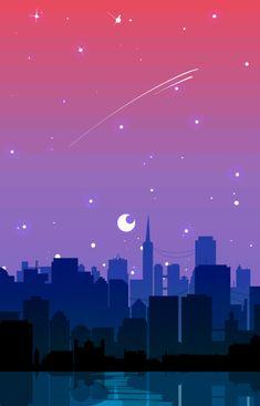 'Bisexual Pride Cityscape' iPhone Case by spadenightmaren Retro Wallpaper, Cute Wallpaper Backgrounds, Aesthetic Iphone Wallpaper, Phone Backgrounds, Cute Wallpapers, Aesthetic Wallpapers, Gay Aesthetic, Bisexual Pride, Animes Wallpapers