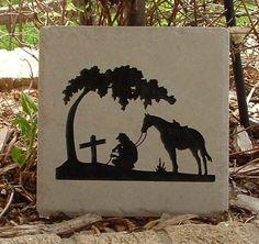 Cowboy Prayer Tile Art by EtchnCarve on Etsy, $18.00