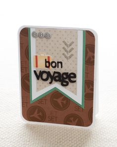 How to create a travel-themed handmade card using the My Acrylix® Sightseer stamp set. #CTMH