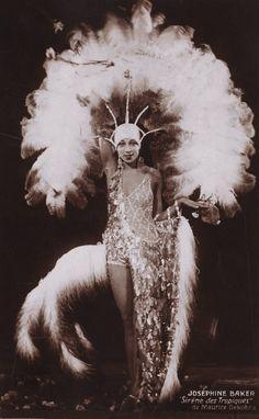 """SIRENE OF THE TROPICS (aka Josephine Baker), 1927: Publicity photo for """"La Sirène des Tropiques"""" (Siren of the Tropics), Josephine Baker's feature film debut."""