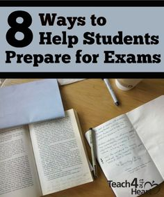 One way to show our students we care is to help them prepare for the often-overwhelming cumulative exam week. 8 Ways to Help Students Prepare for Exams | Teach 4 the Heart