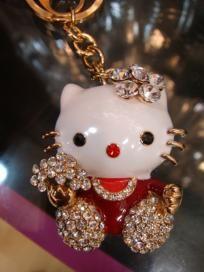 Hello Kitty Keychain/Purse Charm Swarovski Crystals $21.99
