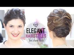 Elegant hairstyle for short hair - YouTube