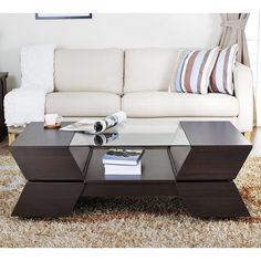 Love this coffee table!!!!  Furniture of America Anjin Enzo Contemporary Two-tone Multi-storage Coffee Table - Overstock Shopping - Great Deals on Furniture of America Coffee, Sofa & End Tables