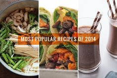 A month-by-month look at Oh My Veggies' most popular recipes of 2014.
