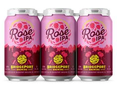 Bridgeport Brewing Hop Hero Series – Rose IPA designed by Alana Louise. Connect with them on Dribbble; Beer Packaging, Print Packaging, Product Packaging, Craft Beer Labels, City Brew, Beer Label Design, Beer Brands, Brew Pub, Packaging Design Inspiration