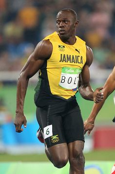 Usain Bolt of Jamaica in action during the men's 100m on day 8 of the Rio 2016…