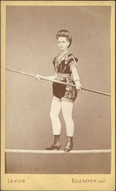 ca. 1870, [carte de visite portrait of a female tightrope walker], Eulenstein  via Christopher Wahren Fine Photographs, Skylight Gallery
