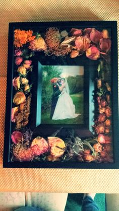A great way to preserve your wedding bouquet! :)