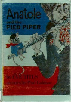 Anatole and the Pied Piper vintage kids book by OnceUponABookshop, $22.50