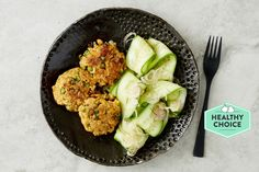 Photo for the dish: Brown Rice and Quinoa Thai Fish Cakes with Cucumber Salad