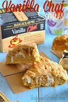 Vanilla Chai Scones {Made with Bigelow Tea -- #TrendTea}