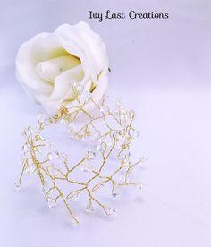 Bracelet Mariage dentelle cristal or : Bracelet par ivy-last-creations-mariage-et-tendance