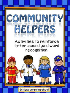 Community helpers workstation consists of  three different activities for students: Writing Workstation which includes colored cards and a booklet to practice writing community helper  words: Police, Teacher, Doctor and Fireman.Initial Sounds Puzzles (2 sets) to practice the initial letter sound by matching the initial letter with the corresponding community helper.Community Helper cards where students complete the words with either plastic letters or the letters provided to print…