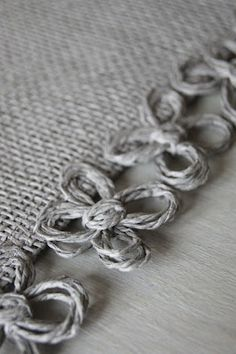 Love this Finishing technique on this table runner