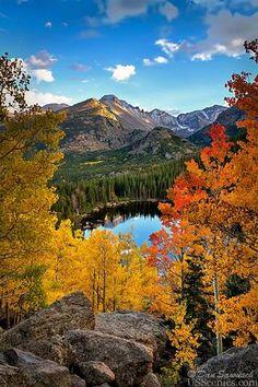 Bear Lake in Rocky Mountain National Park near Estes Park, Colorado. Estes Park Colorado, Aspen Colorado, Denver Colorado, Colorado Springs, Colorado Hiking, Colorado Mountains, Bear Lake Colorado, Denver City, Kansas City