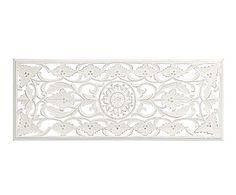 Panneau mural décoratif TANIA, blanc - 120*45