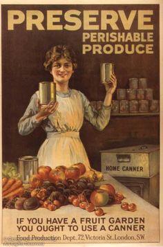 """Preserve Perishable Produce""  -- WWI propaganda poster (UK), c. 1918."