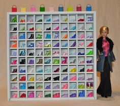 100 Miniatures / Thimble Display Case Holder Cabinet, with Glass ...