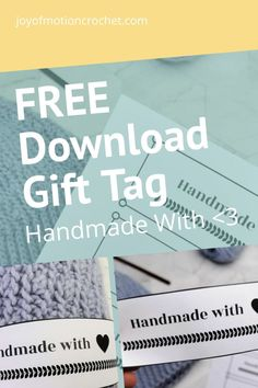 Free printable landscape tag for crochet. Free printable gift tag, quick download. Handmade with love gift tag wrap around. Easy to wrap around gift tag for handmade beanies and knitted gifts. #crochet #knit #gifttag Knitted Gifts, Crochet Gifts, Free Crochet, Free Printable Gift Tags, Free Printables, Crochet Patterns For Beginners, Crochet Tutorials, Handmade Tags, Craft Free